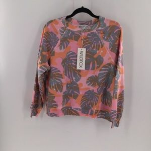 Wildfox palm leaf camo tropical Sweatshirt